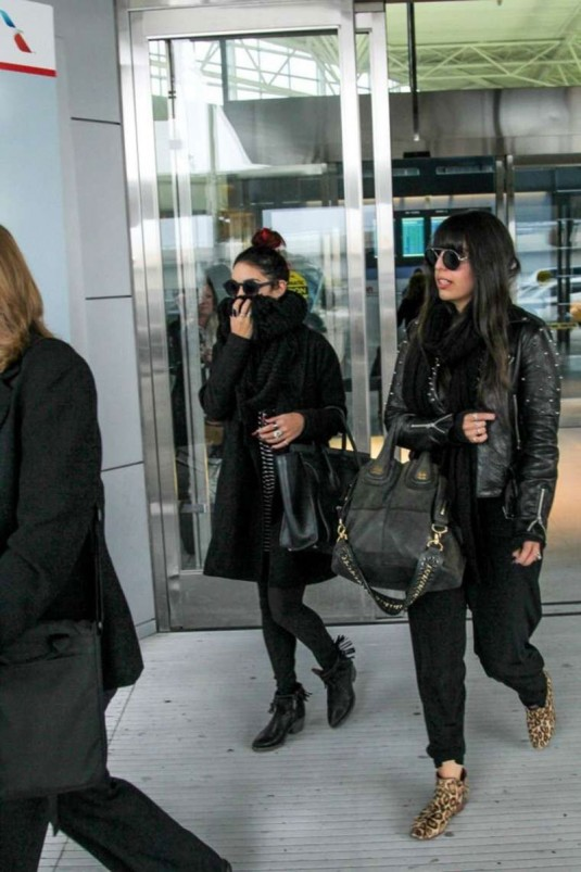 VANESSA HUDGENS Arrives at JFK Airport