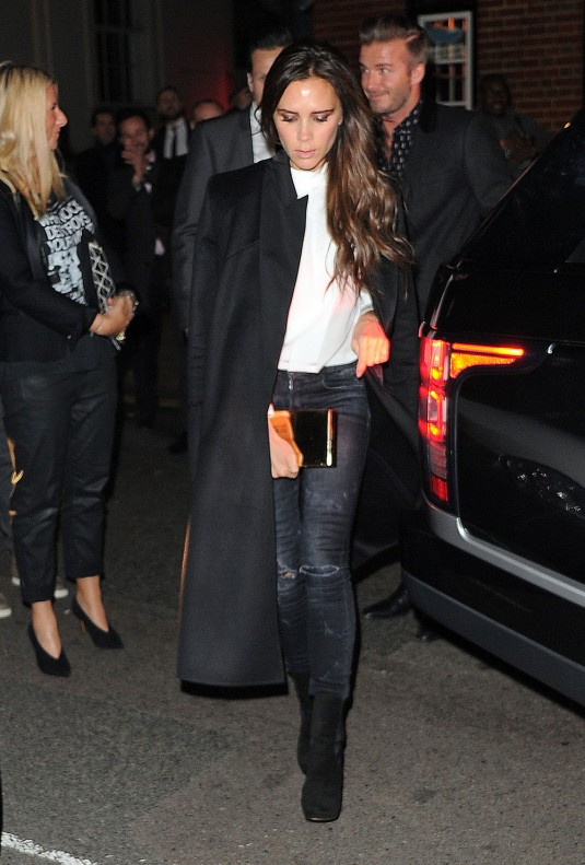 VICTORIA and David BECKHAM Night Out in London