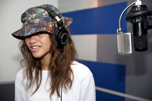 ZENDAYA at a Recording Studio