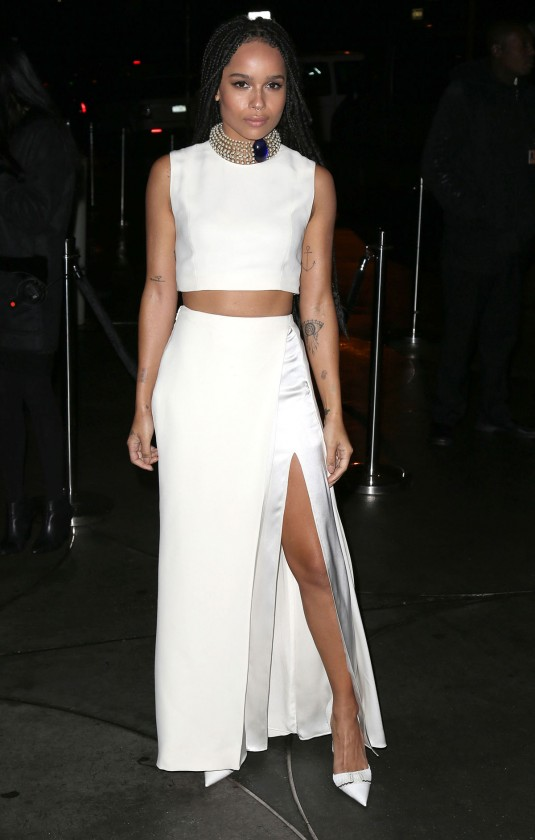 ZOE KRAVITZ at Guggenheim Young Collectors Party