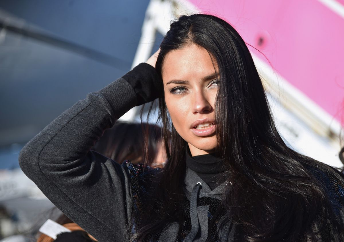 Adriana lima hairstyles 2014 - Adriana Lima Departing For The London For 2014 Victoria S Secret Fashion Show