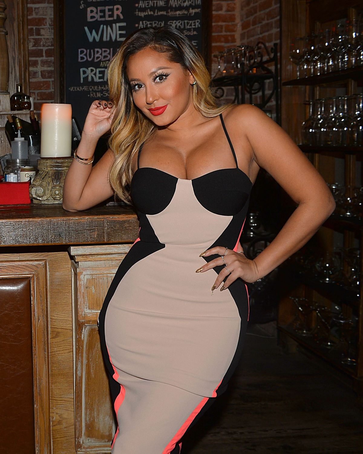 ADRIENNE BAILON Out for Dinner in Los Angeles