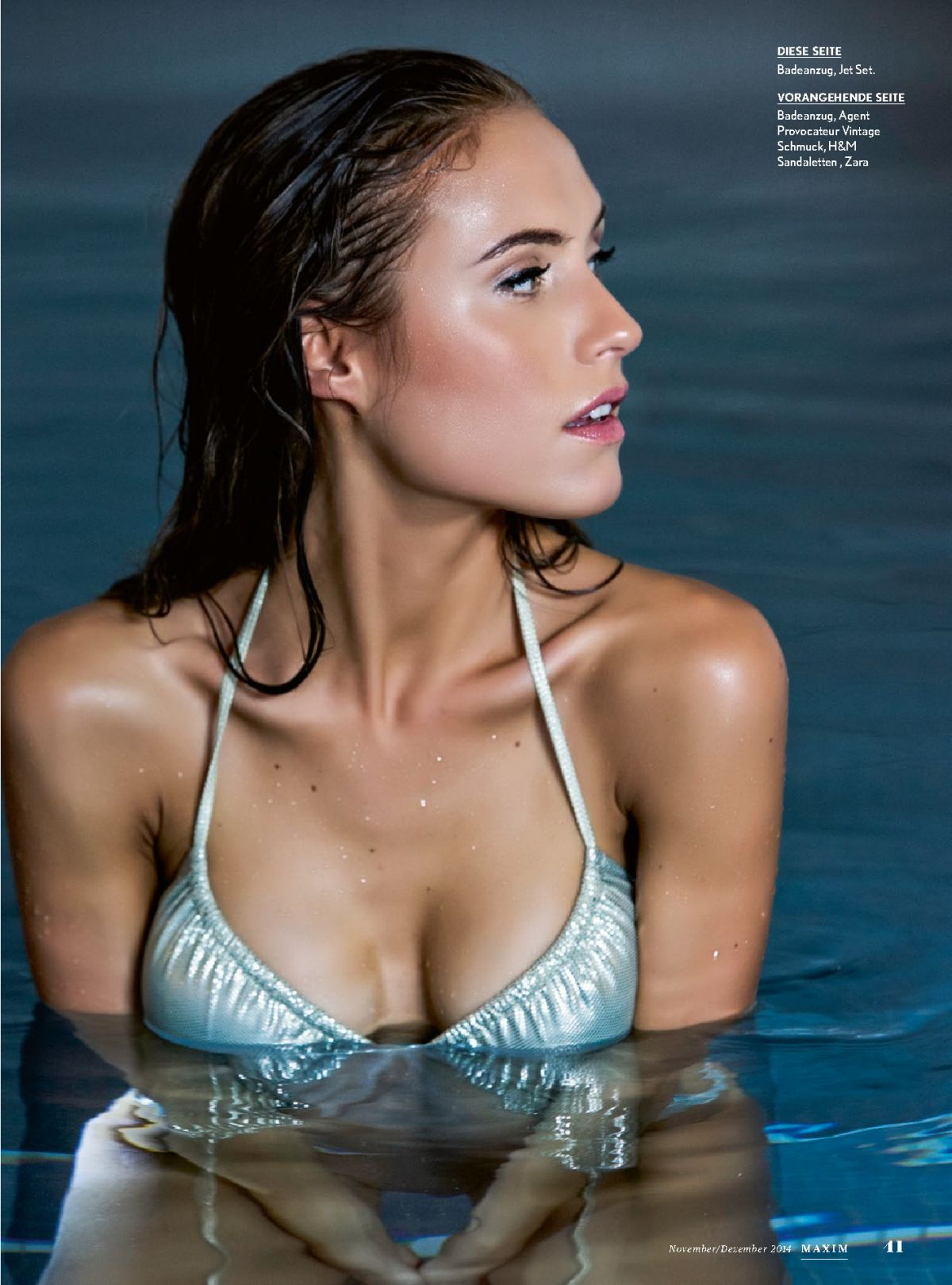 ALENA GRABER in Maxim Magazine, Switzerland November/December 2014 Issue