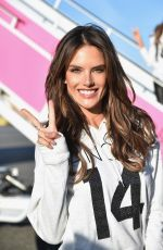 ALESSANDRA AMBROSIO Departing for the London for 2014 Victoria