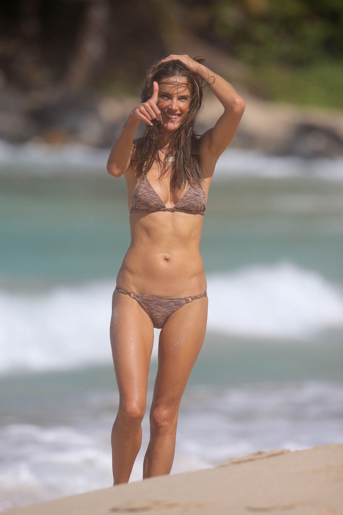 ALESSANDRA AMBROSIO in Bikini at a Beach in St. Barts 2611