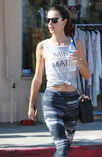 ALESSANDRA AMBROSIO in Leggings Leaves a Gym in Los Angeles 2211