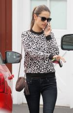 ALESSANDRA AMBROSIO Out and About in Brentwood 3110