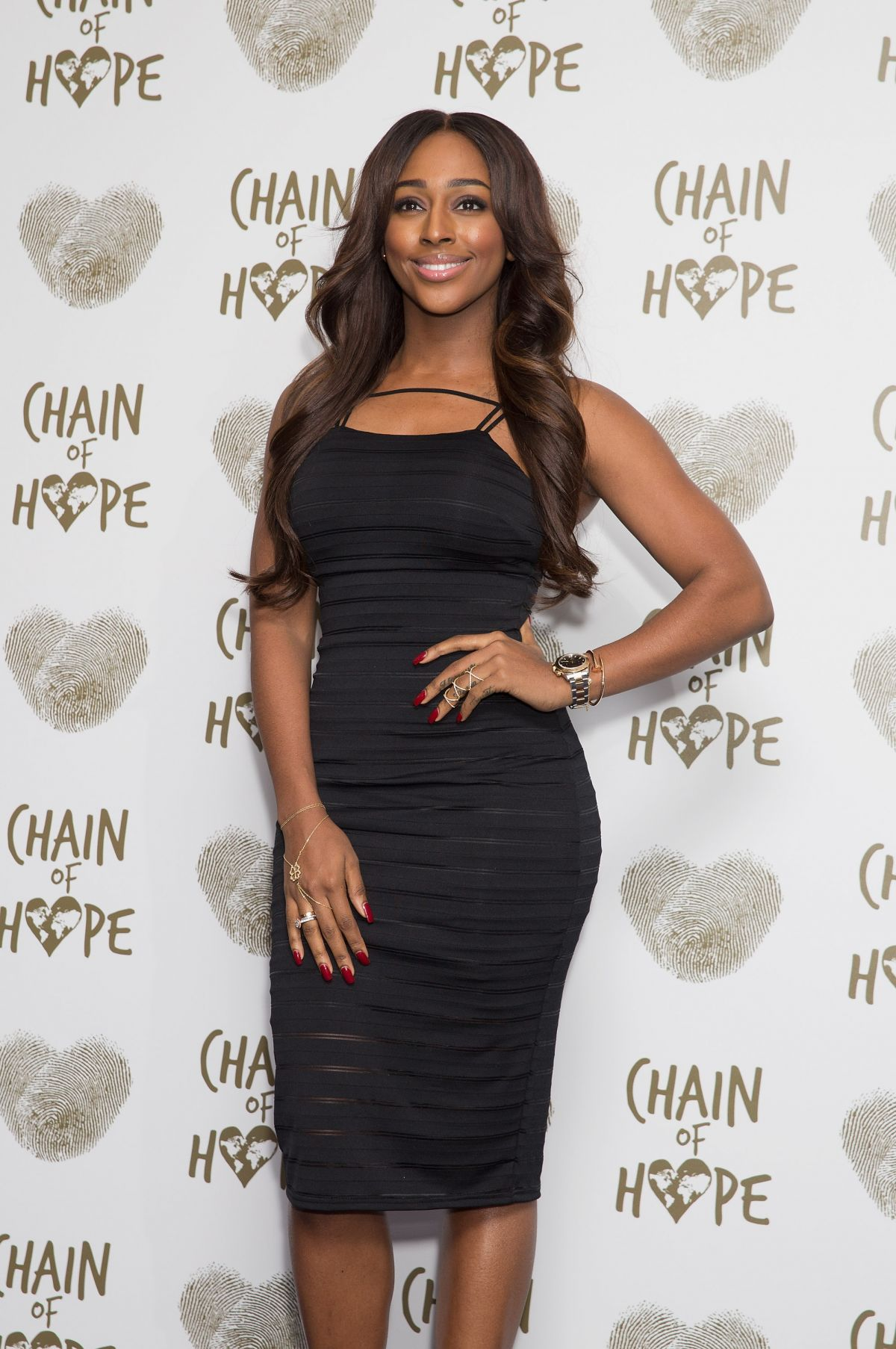 ALEXANDRA BURKE at Chain of Hope Gala Ball in London