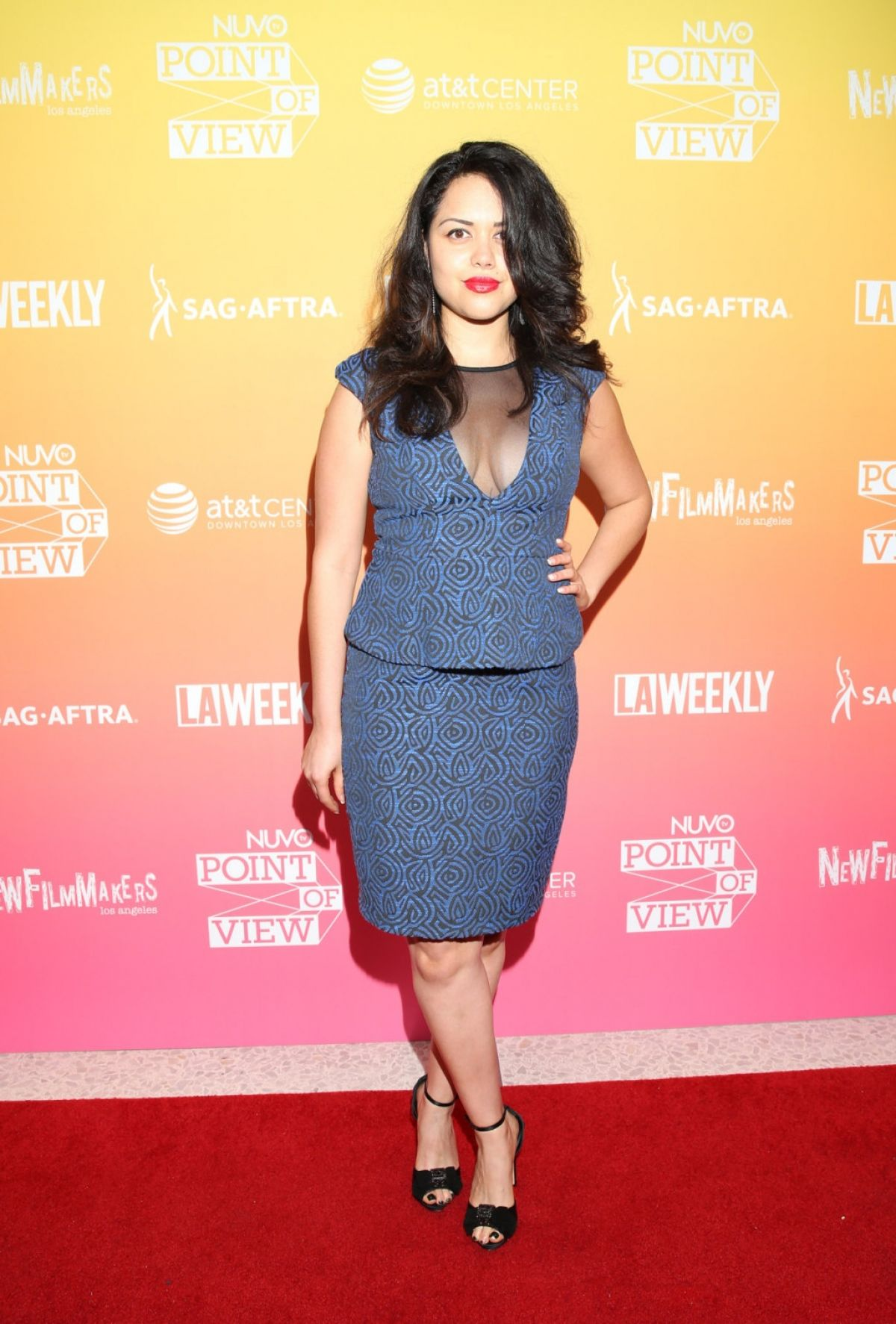 ALYSSA DIAZ at Nuovo Point of View the Emerging Latino Filmmakers Screening