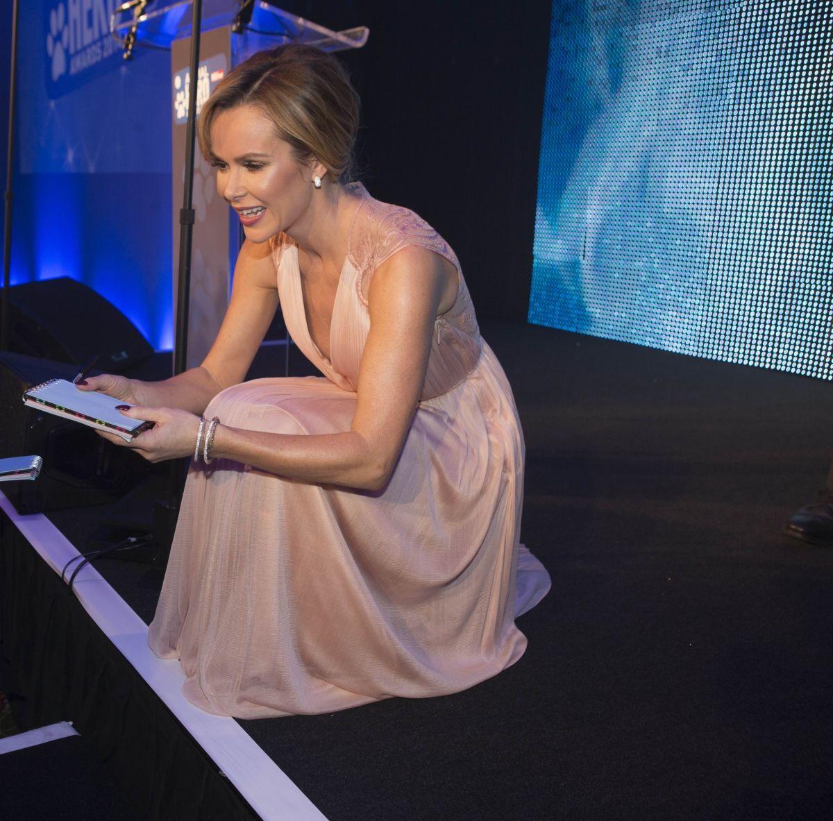 AMANDA HOLDEN at Animal Hero Awards in London