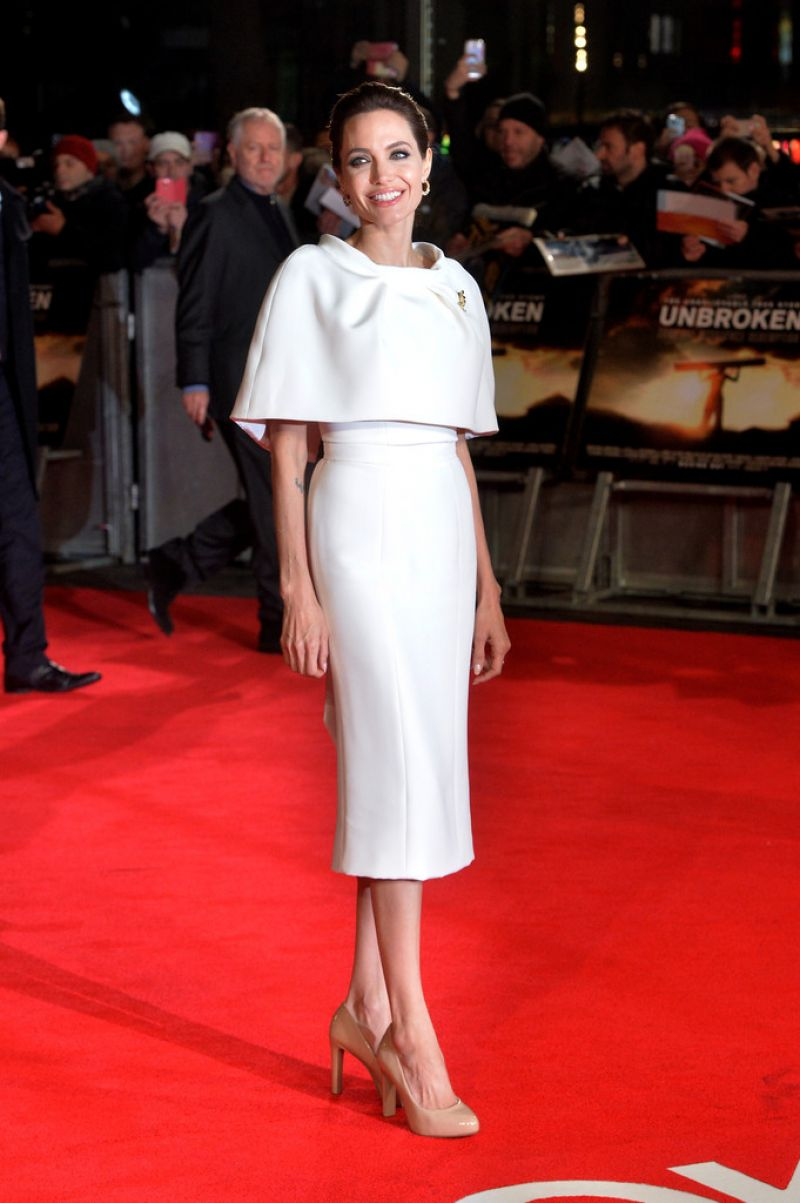 ANGELINA JOLIE at the Unbroken Premiere in London