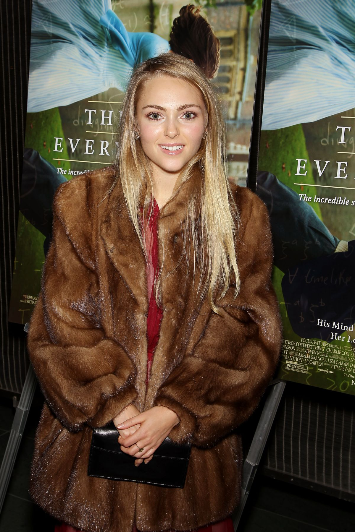 ANNASOPHIA ROBB at Theory of Everything Special Screening in New York