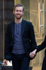ANNE HATHAWAY and Adam Shulman Leaves Their Hotel in New York