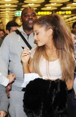 ARIANA GRANDE Arrives at Airport in Madrid