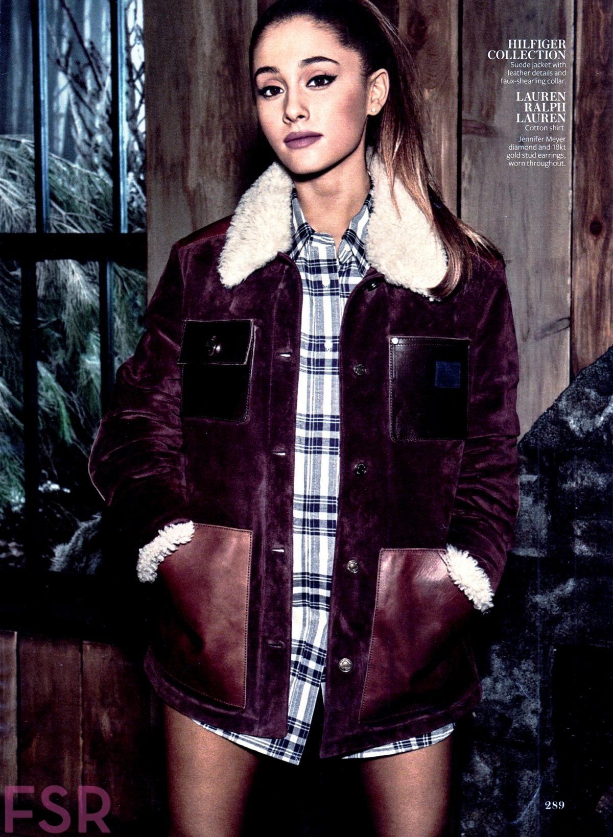 ARIANA GRANDE in Instyle Magazine, December 2014 Issue