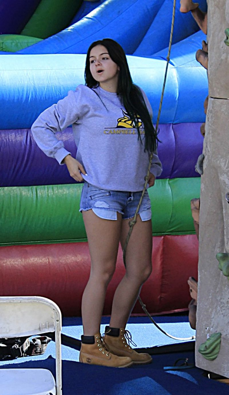 ARIEL WINTER in Cutoffs at Farmer