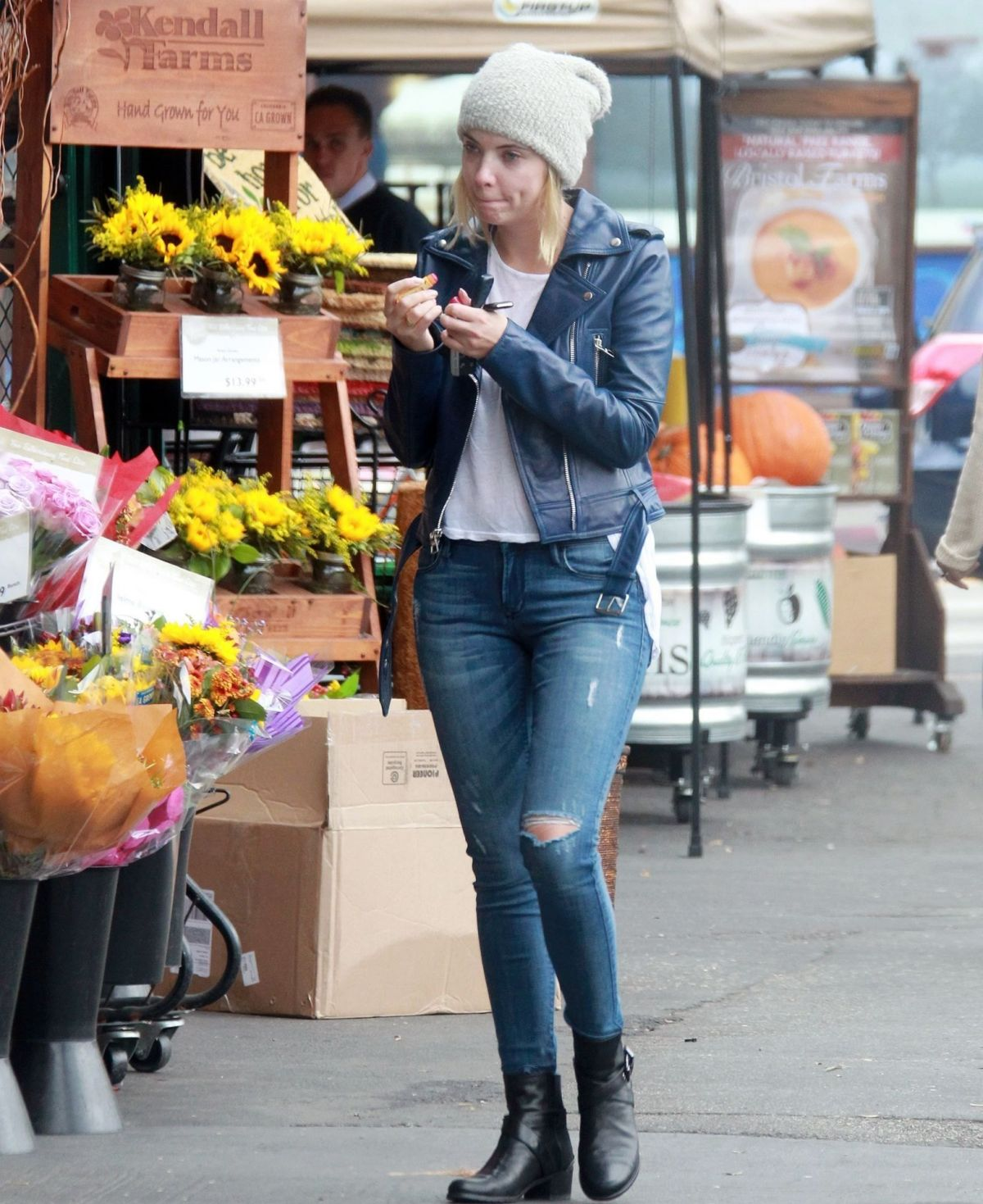 ASHLEY BENSON Shopping Flowers in Los Angeles