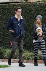 ASHLEY TISDALE and Christopher French Out and About in Los Angeles