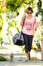 ASHLEY TISDALE in Leggings Out and About in Toluca Lake