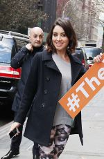 AUBREY PLAZA Arrives at The View in New York