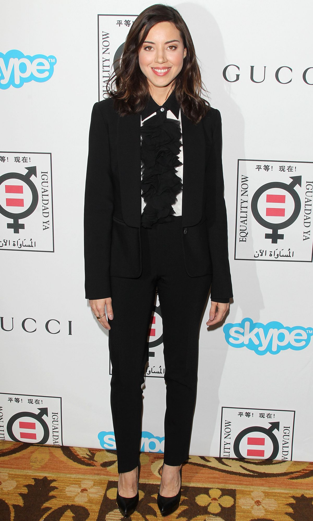 AUBREY PLAZA at Equality Now's Make Equality Reality Event in Los Angeles
