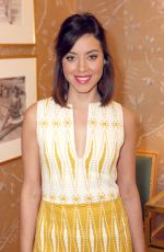 AUBREY PLAZA at Vogue and Tory Burch Celebrate the Tory Burch Watch Collection