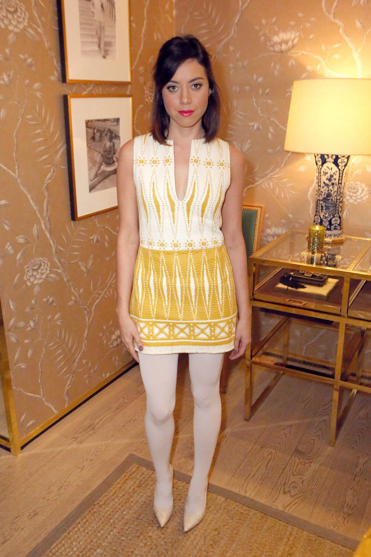 d6b5e5916c1 AUBREY PLAZA at Vogue and Tory Burch Celebrate the Tory Burch Watch  Collection