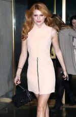 BELLA THORNE Arrives at NBC Studio in New York