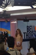 BELLA THORNE at Today Show in New York