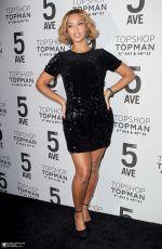 BEYONCE at Topshop Topman Opening Dinner in New York