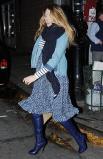 BLAKE LIVELY Leaves Christian Louboutin Store in New York