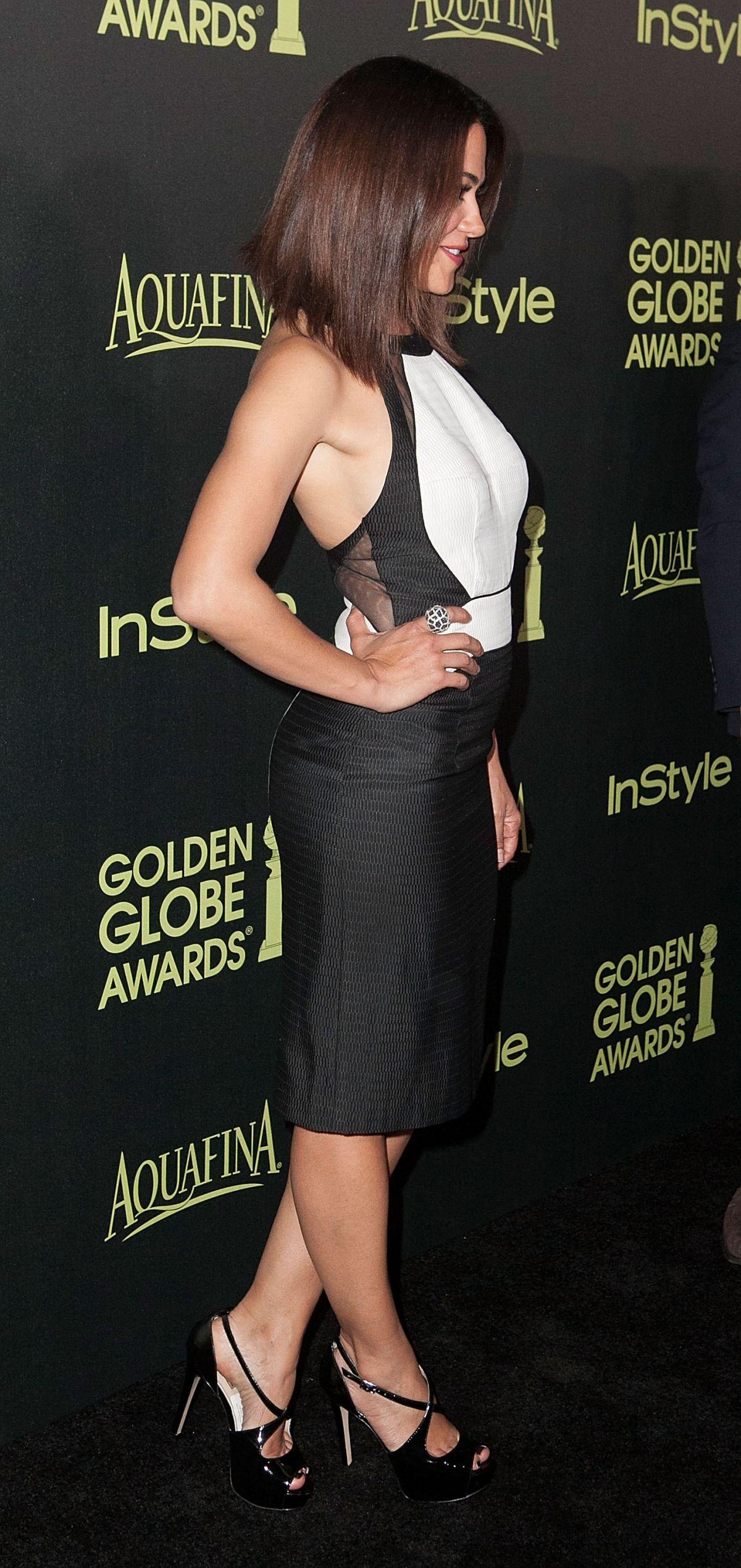 CAMILLE GUATY at Hfpa & Instyle Celebrate 2015 Golden Globe Award Season