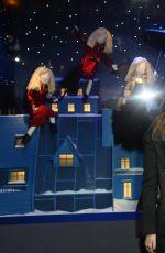CARA DELEVINGNE and KATE MOSS at Printemps Christmas Decorations Inauguration in Paris