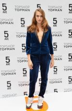CARA DELEVINGNE at Topshop Topman Store Opening in New York
