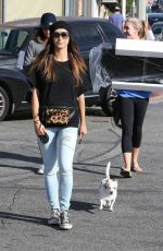 CARA SANTANA Walks Her Dog Out in West Hollywood