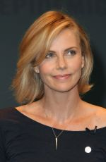 CHARLIZE THERON at Unaids New Fast Track Report Launch in Los Angeles