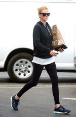 CHARLIZE THERON Leaves A Yoga Class 1211