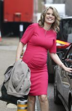 CHARLOTTE HAWKINS Leaves a Studio in London 2811