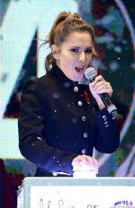 CHERYL COLE Switches Oxford street Christmas Lights in London