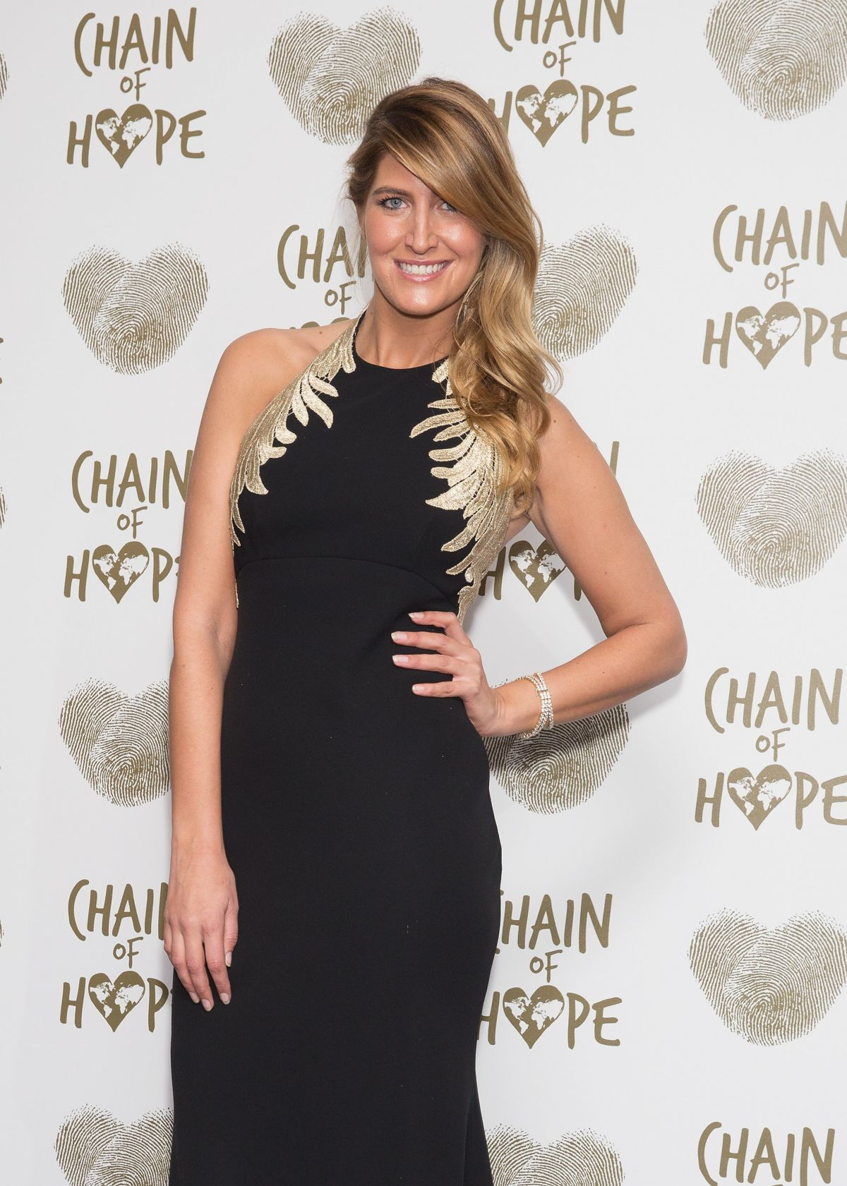 CHESKA HULL at Chain of Hope Gala Ball in London