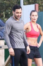 CHLOE GOODMAN Workout at a Park in Essex