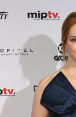 CHRISTINA HENDRICKS at International Academy of Television Arts & Sciences Emmy Awards in New York