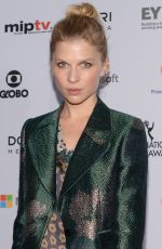 CLEMENCE POESY at International Academy of Television Arts & Sciences Emmy Awards in New York
