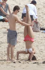 DEMI HARMAN and Alec Snow at a Beach in Sydney
