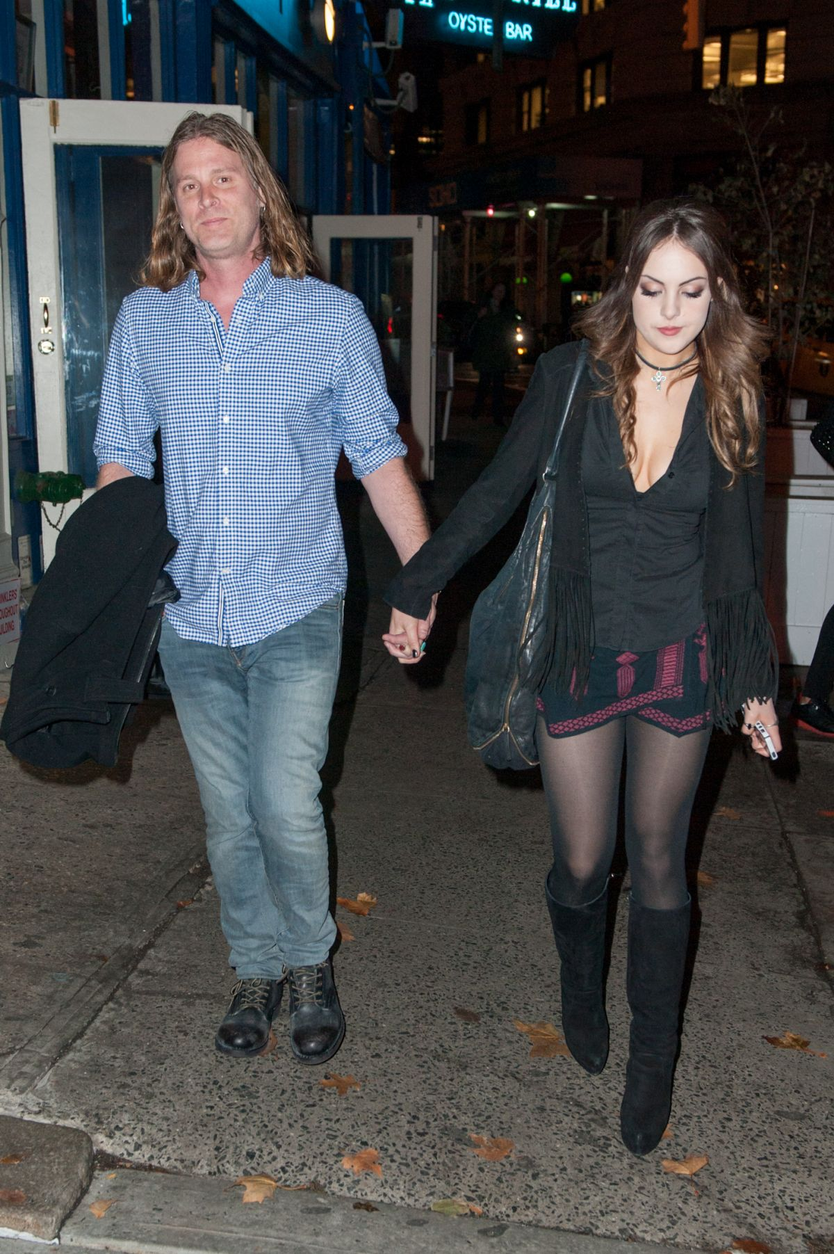 ELIZABETH GILLIES Night Out in New York