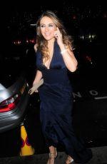 ELIZABETH HURLEY Arrives at Mandarin Oriental Restaurant