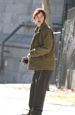 ELLE FANNING on the Set of Three Generations in Brooklyn