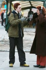 ELLE FANNING on the Set of Three Generations in New York