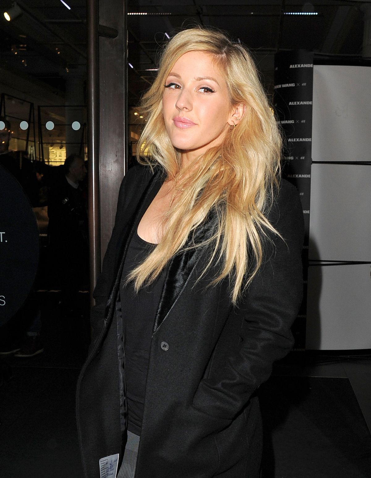 ELLIE GOULDING at Llexander Wang and H&M VIP Party in London