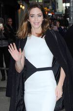 EMILY BLUNT Arrives at The Late Show with David Letterman in New York
